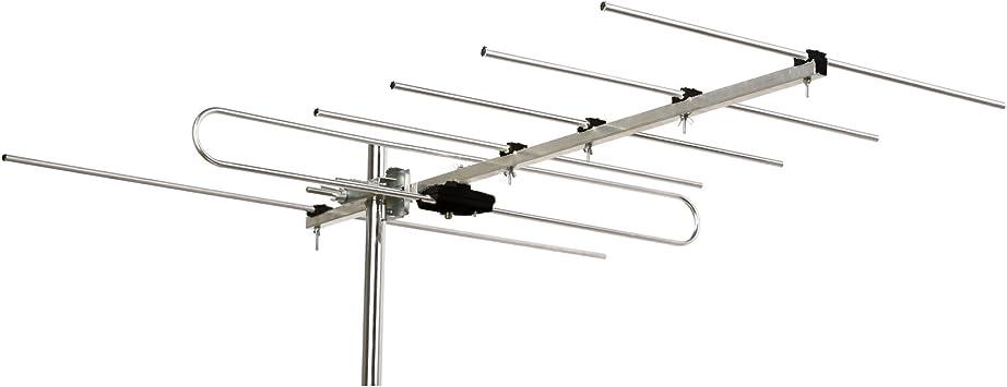 Zodiac zd-15 – 6 Antena VHF CH 6 – 12, 6 Elementos, Plata