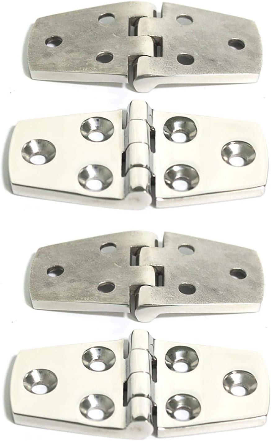 POFET 4 bisagras de acero inoxidable 316 para puerta de barco, yate, RV, 4 unidades