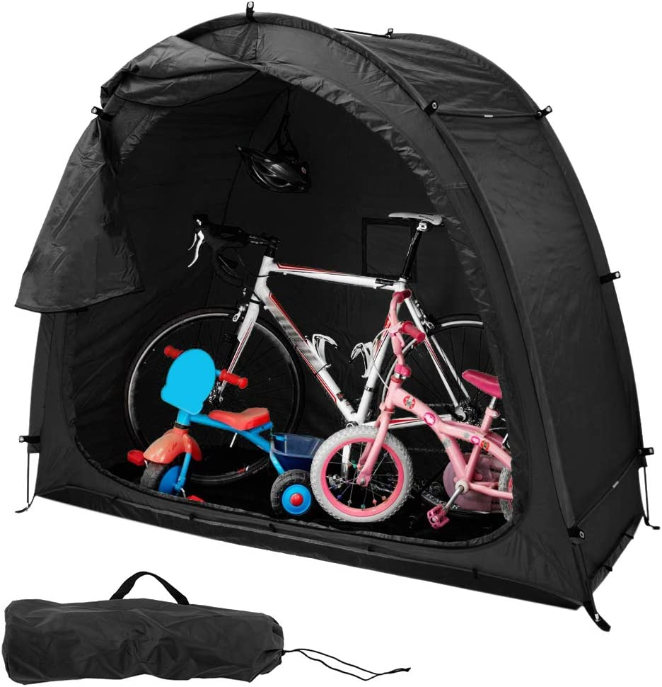 YQK Bicycle Tent Outdoor Bike Sheds Storage with Carry Bag 190t Polyester Cloth Waterproof Easy Ventilation Fully Zipped Door Design Installation Easy for Outdoor Equipment Storage Waterproof Cover