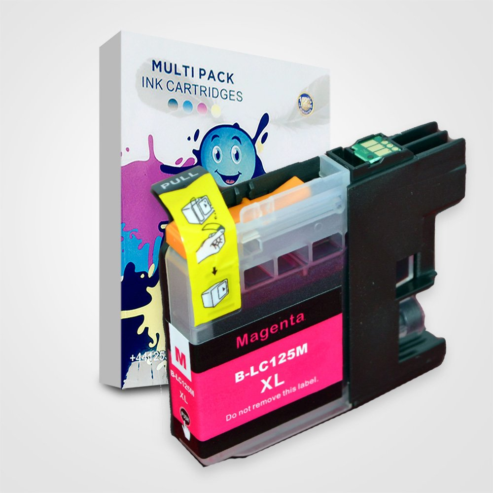 The Ink Squid LC125//LC129 XL Compatible Ink Cartridge Replacement For Brother Printers MFC-J6520DW MFC-J6720DW MFC-J6920DW Pack of 16, Multi-Pack