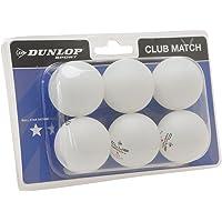 Dunlop Club - Lote de pelotas de ping-pong (6 unidades)