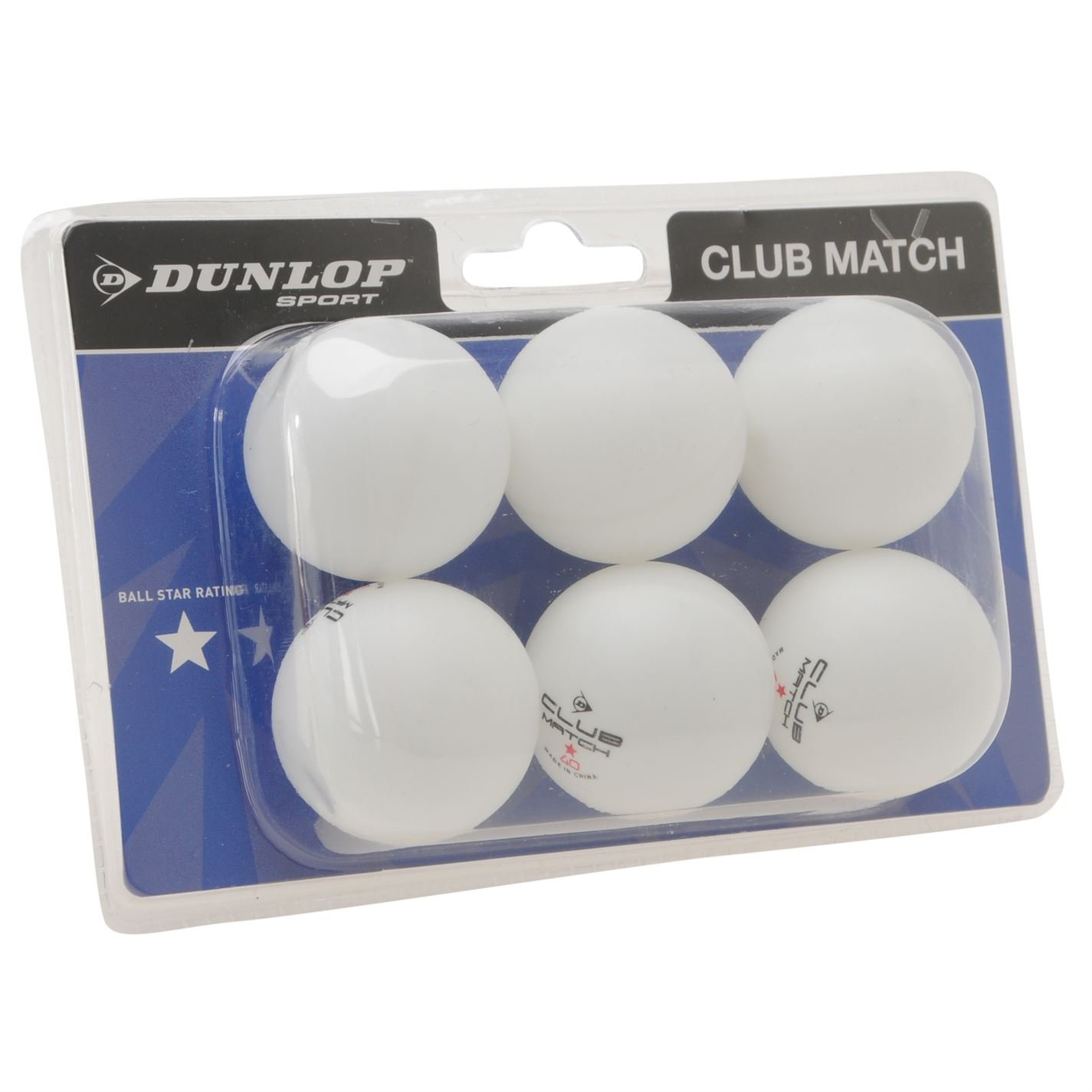 Dunlop Club Lot de 6 balles de tennis de table