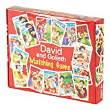 David And Goliath Biblical 5.5 x 7 Cardboard 41-Piece Children's Matching...