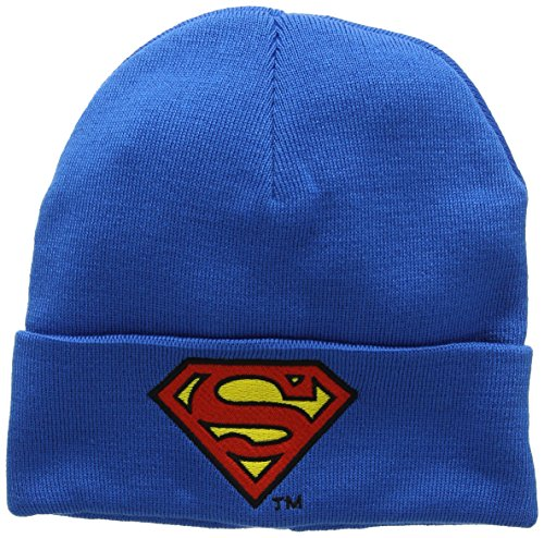 original Bordado Superman Gorro punto marca de la Logo Beanie Diseño Azul de Logoshirt Logotipo Gorro Superman Comics punto con original de licencia DC tv6wTqF