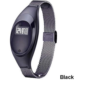LETAMG Monitores de actividad Reloj Inteligente para Mujer Pulsera Bluetooth Pulsera Inteligente Presión Arterial Monitor de Ritmo cardíaco Rastreador de ...
