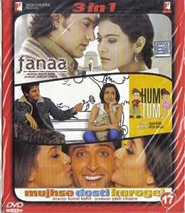 Amazon.com: Fanaa / Hum Tum / Mujhse Dosti Karoge!(3 in 1 ...