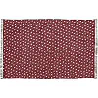 VHC Brands Classic Country Americana Flooring - Multi Star Red Cotton