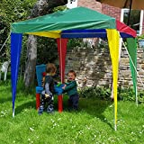 Marko Outdoor Kids Gazebo Outdoor Garden Multi Colour Childrens Marquee Tent Sun Shade Beach (Kids Gazebo)