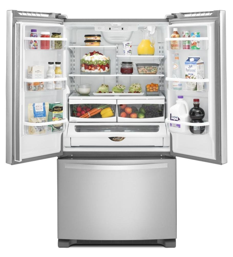 French Door 22 cubic foot french door refrigerator pictures : Amazon.com: Whirlpool WRF532SMBM 21.7 Cu. Ft. Stainless Steel ...