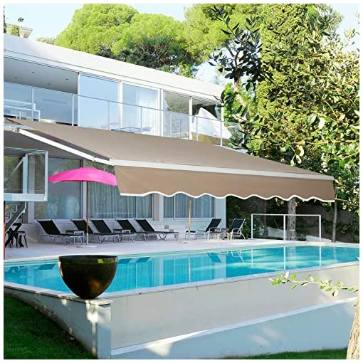 Garden and Outdoor Aclumsy 13'x8.2′ Patio Awning patio awnings