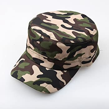 6413300804e830 Mens Camouflage Military Cotton Hat Summer Army Peaked Dad Cap Adjustable  Distressed Washed Cadet Patrol Bush Hat