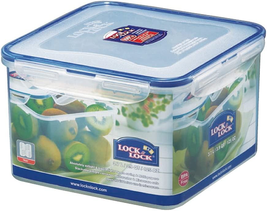 LOCK & LOCK Square Food Container, Tall, 15.4-Cup, 125-Fluid Ounces