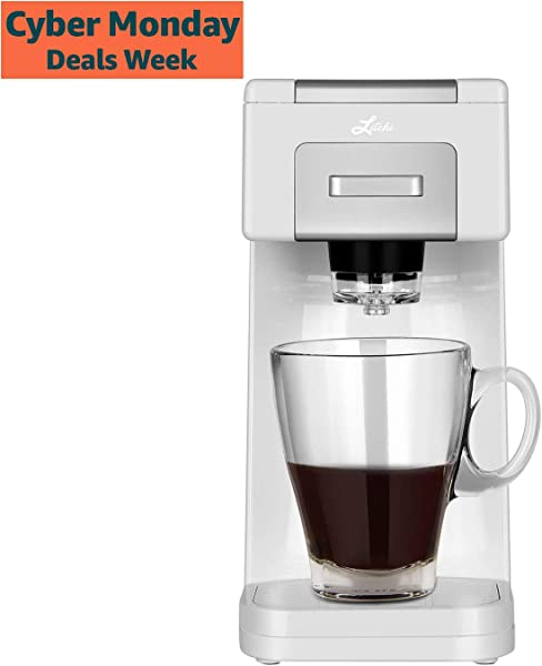 Litchi Single Serve Coffee Maker for Most Single Cup Pods Including K Cup Pods