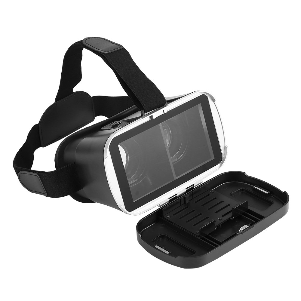 VR-HERE Phone VR Headset Immersive 3D Visual Enjoyment VR Glasses for 3.5-6 inches Phones (IOS, Android)