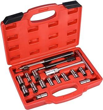 Cocoarm 17 Tlg Injektor Fräser Diesel Einspritzdüse Werkzeug Dichtsitz Fräser Diesel Satz Werkzeug Set Inklusive Aufbewahrungskoffer Auto