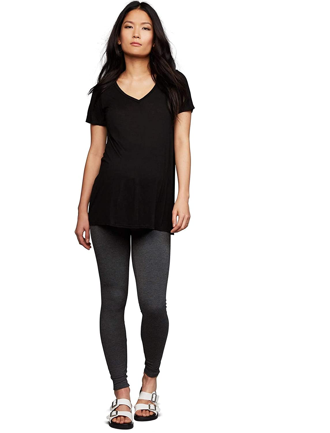663b8f0496d23 A Pea in the Pod Secret Fit Belly French Terry Maternity Leggings at Amazon  Women's Clothing store: