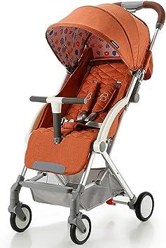 Opinión sobre ZYC-WF Bicicletas para Niños, Empujan a Los Niños de Bicicletas Bebé Ultraligero Puede Sentarse/Lie Plegable Carro de Bebé Ajuste Parasol Toldo Anti-Uv de Protección Solar Espuma de Eva Amortiguado