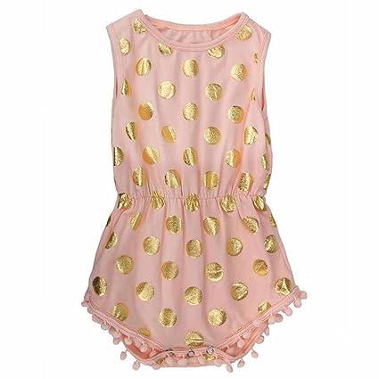 kingko® neonate infantili Pagliaccetto Ropa del niño Chándal para niña vestidos la Chándal 24 mesi