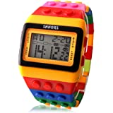 Rethinkso Shhors-Reloj mitb115cf con pulsera LED, correa multicolor y luz nocturna