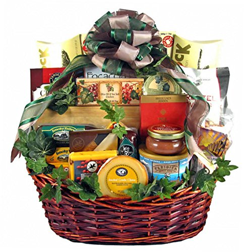 Group Therapy  Premium Gourmet Food Gift Basket  Meat Cheese Nuts Smoked Salmon Dried Fruit Chocolate Cookies amp More  Christmas Holiday Gift Idea