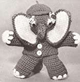 Vintage Crochet PATTERN to make - Baby Elephant Stuffed Animal Soft Toy. NOT a finished item. This is a pattern and/or instructions to make the item only.