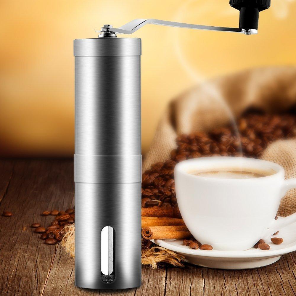 Aidle Acero Inoxidable Molinillo de café mano portátil Molinillo de café con