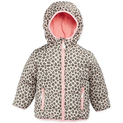 Carters Little Girls' Printed Winter Bubble Jacket (Brown 2T)