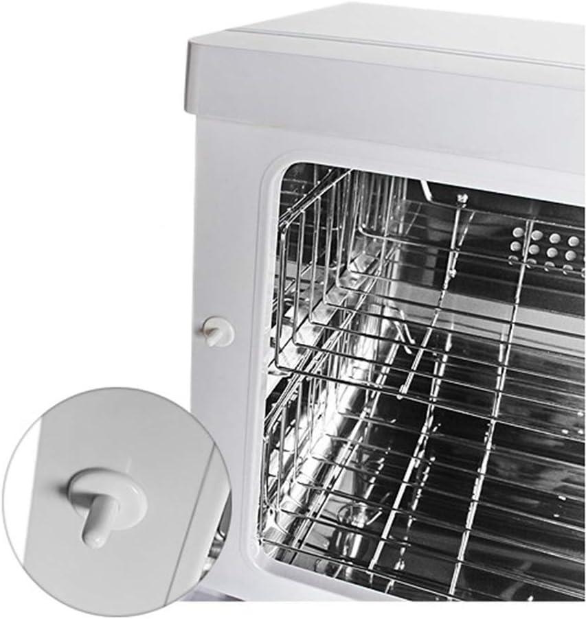Volumen von 23L OUKANING Handtuchablage Desinfektion Kompressen Towel Handtuch W/ärmer Hot Cabinet UV-Licht Sterilisator Friseursalon Kosmetikstudio