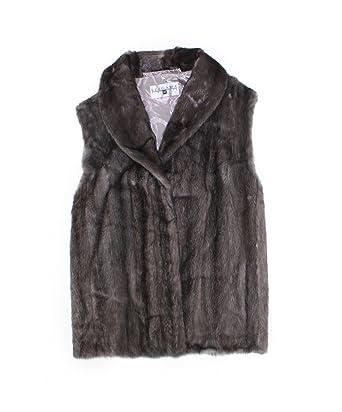 952c653b92447 513252 New Plus Size Natural Blue Iris Grey Mink Fur Vest Jacket Stroller 24