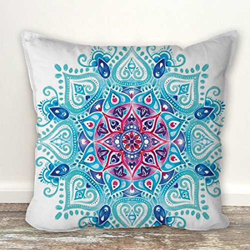 Floral design pattern designer cushion cover with filler (16x16) by Aart Store