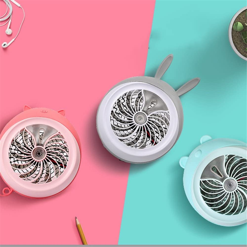 Color : Pink, Size : One Size MDYYD Mini USB Table Desk Personal Fan Electric 3 Speeds USB Rechargeable Battery Operated Hand Fan Strong Wind,Quiet Operation,for Home Office.