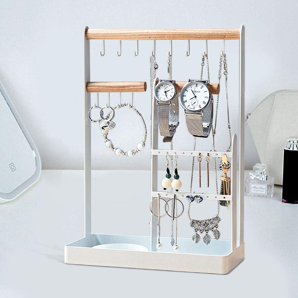 Ulable Pr/ésentoir /à bijoux en fer forg/é Blanc