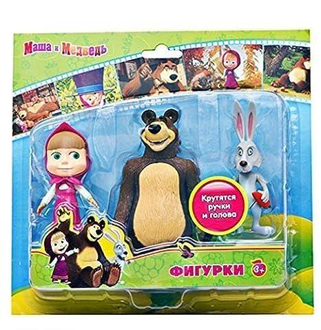 "Masha and the Bear Toy 23/"" Stuffed Animal Cartoon Masha y El Oso Маша и Медведь"