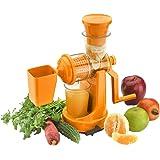 Amiraj Plastic Manual Juicer Set, 2-Pieces, Orange