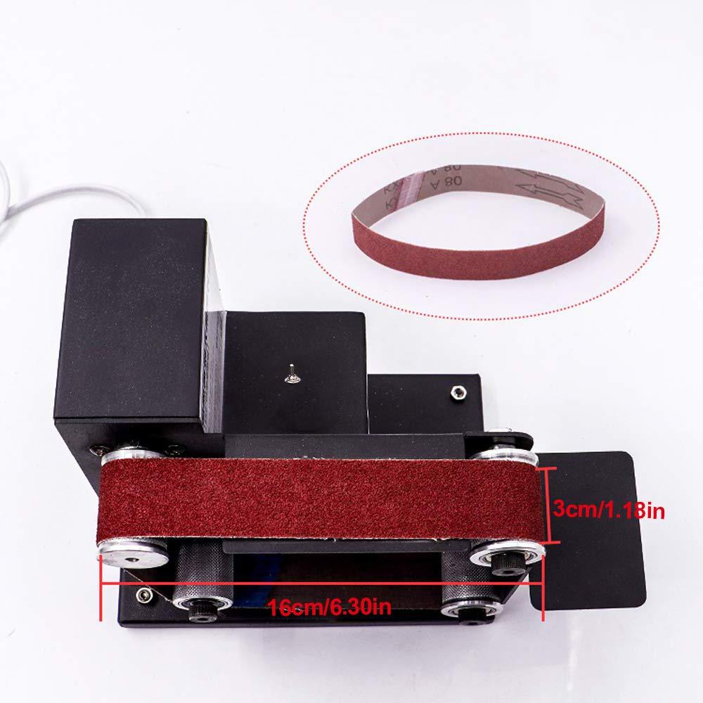 tampones de lijado de molienda DIY Herramientas de pulido el/éctrico con fuente de alimentaci/ón de control de velocidad de 7 velocidades ETE ETMATE Mini lijadora de banda el/éctrica micro 10000 rpm