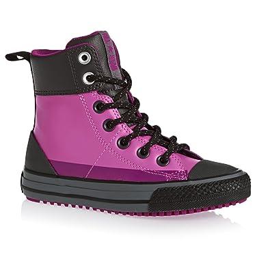 Converse Girls Chuck Taylor All Star Asphalt Boot HI Dahlia Pink 11 M 6e2ebb407
