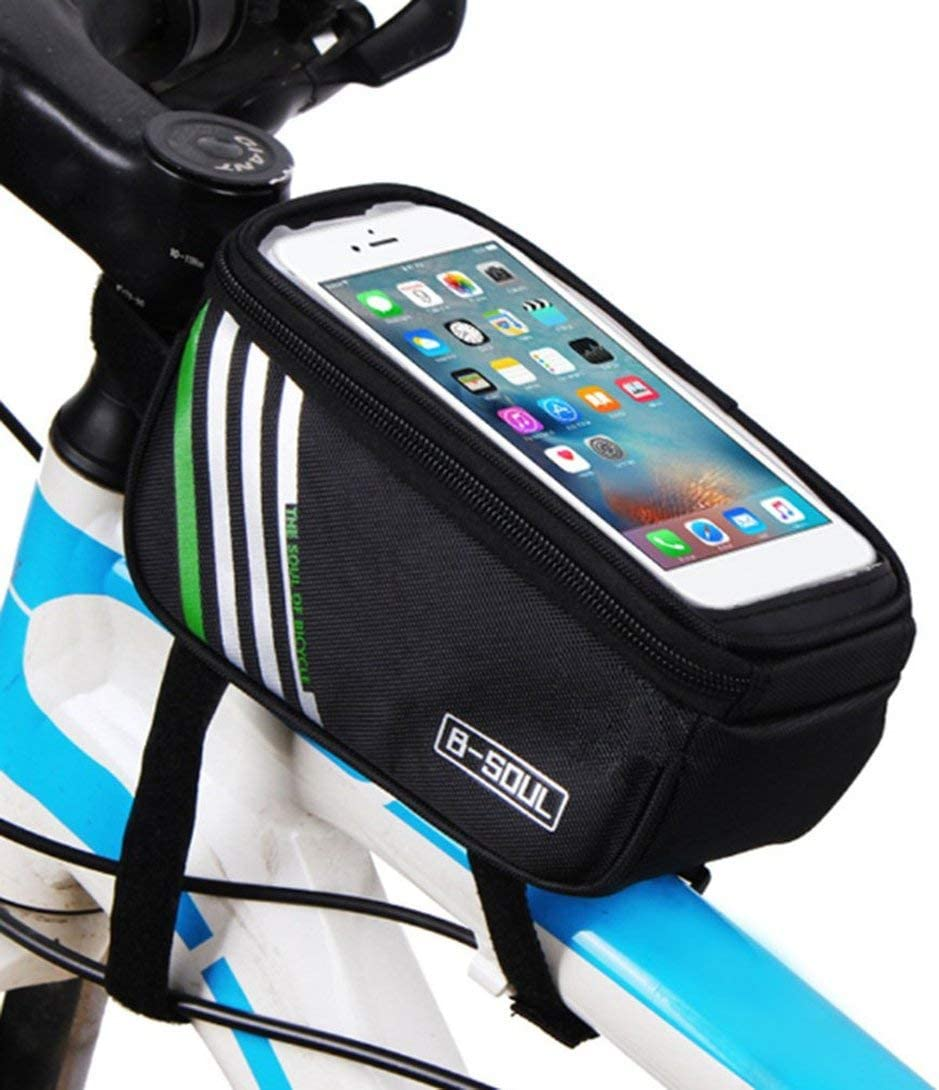 Swiftswan Bicycle Handlebar Mobile Phone Pouch Touch Screen Top Frame Tube Storage Bag Waterproof Cycling Cellphone Holder Bag