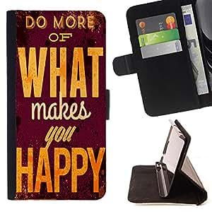 Skull Market - FOR HTC One M7 - make you happy - Caja de la carpeta del tirš®n del cuero de la PU [con ranuras para tarjetas y cierre de solapa magnšŠtica] Pš¢rese cubierta de la caja
