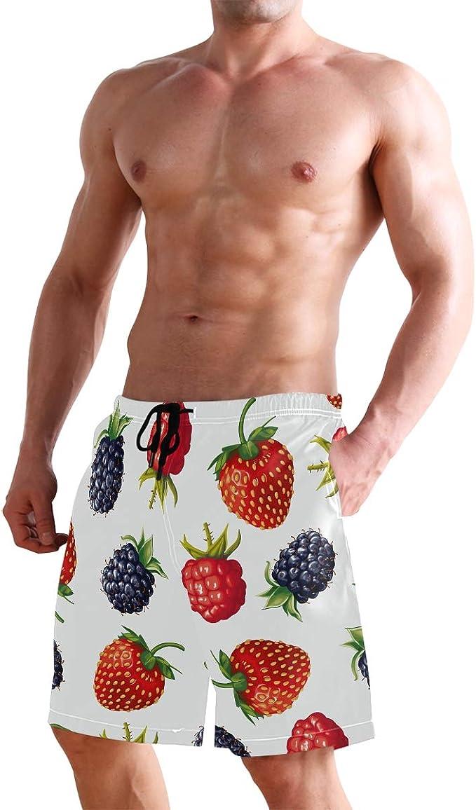supiocv Strawberry Plants Fruit Pink Kids Board Shorts SportwearCasual Sportcamo Shorts Beachshorts