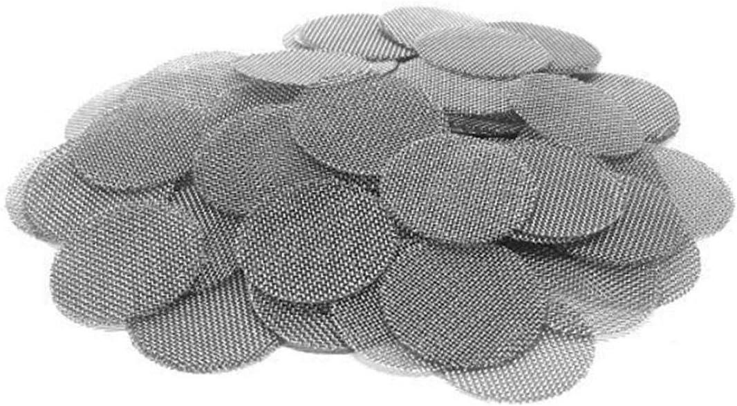 Aisoway 500 Piezas/Bolsa 16MM cachimba del Tubo de Agua del Acero Inoxidable de la Pipa de Metal Filtros Pipas Gasa Shisha E-Cigarrillos de Malla