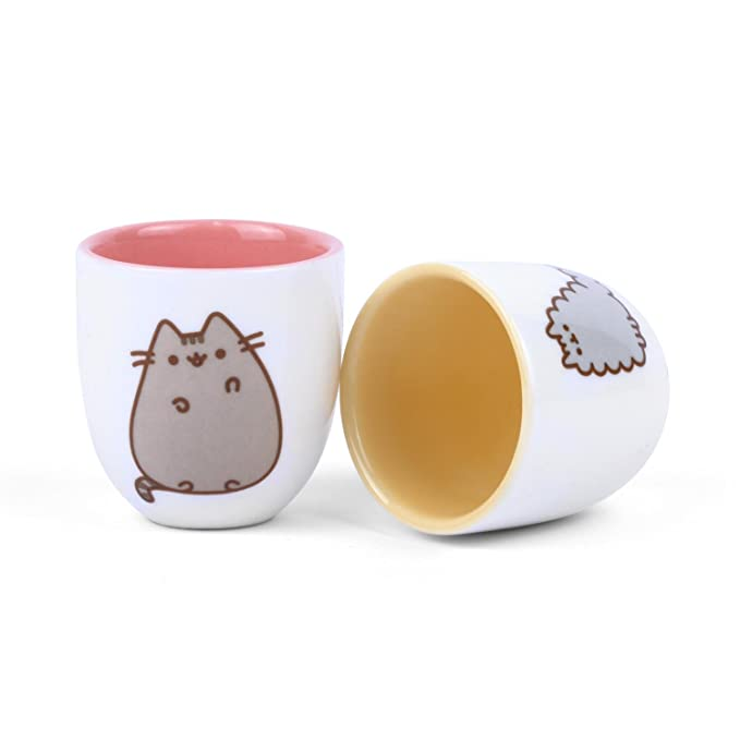 Ceramic Multicolored Thumbs Up Pusheen-Egg Cups Set of 2 4,8 x 4,8 x 5 cm Stormy /& Pusheen