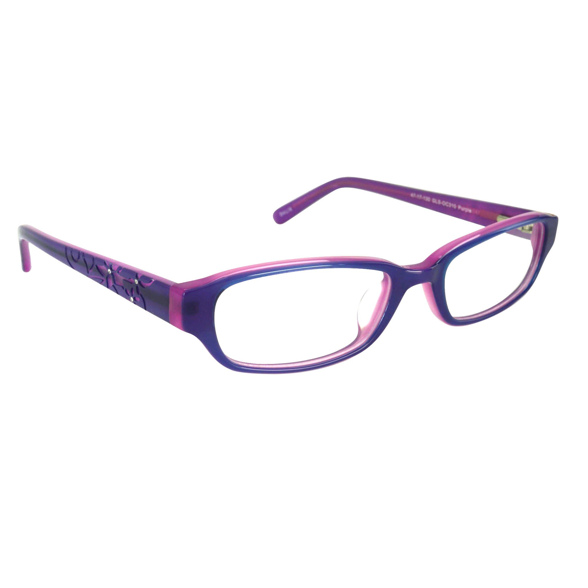 Childrens Girls Prescription Eyeglasses Frames in Purple 47-17-130