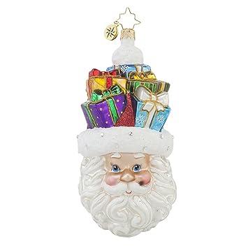 christopher radko christmas on my mind santa glass christmas ornament 55quot