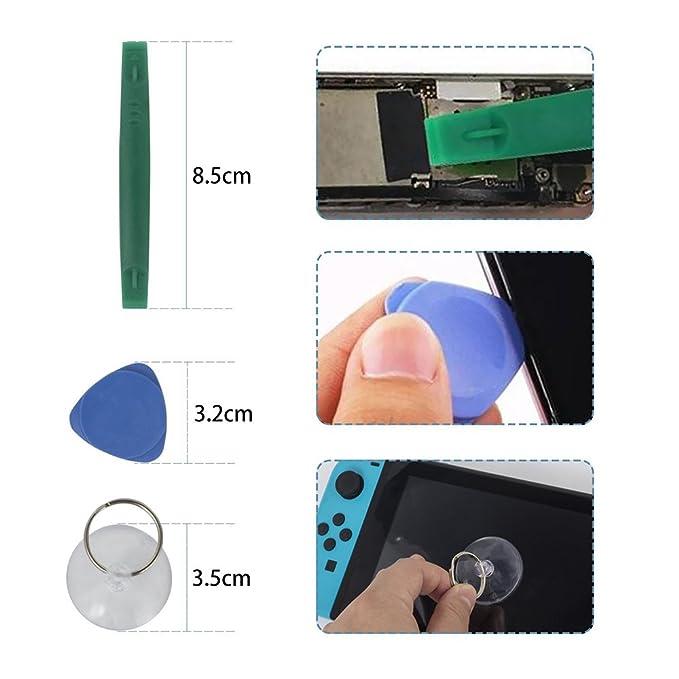 Destornillador de trinquete para Nintendo - Kit de herramienta de reparación de destornillador de trinquete completo profesional, juego de herramienta de ...