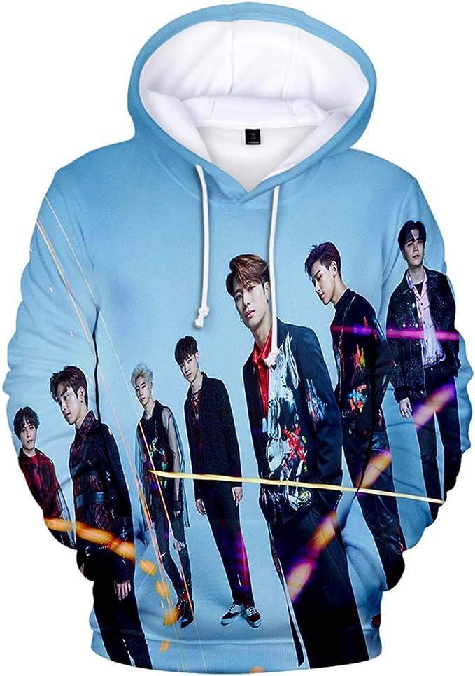 NEW KPOP GOT7 SPINNING TOP Unisex Hoodie 3D Sweatshirt Pullover Sweater Coat