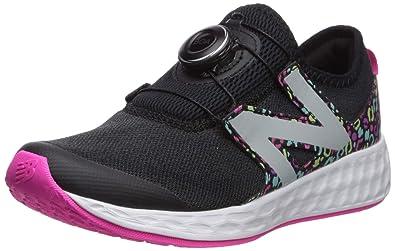 premium selection b5d45 0a88d New Balance Girls  N Speed V1 Running Shoe, Black Peony, 1 M