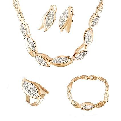 couleur attrayante check-out nouveau produit Chlove Femme Bijoux Parures Collier Bracelet Boucles d ...