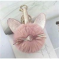 REGOU Plush Ball Keychain Cute Fur Ball Pom Pom Keychain for Car Key Ring Bag Pendant