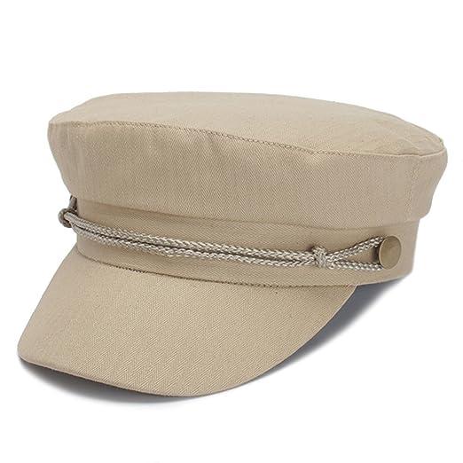 Classic Spring Summer Womens Newsboy Cap Cotton Cabbie Ivy Beret Hats for  Women (Beige) c83e81f77a8b