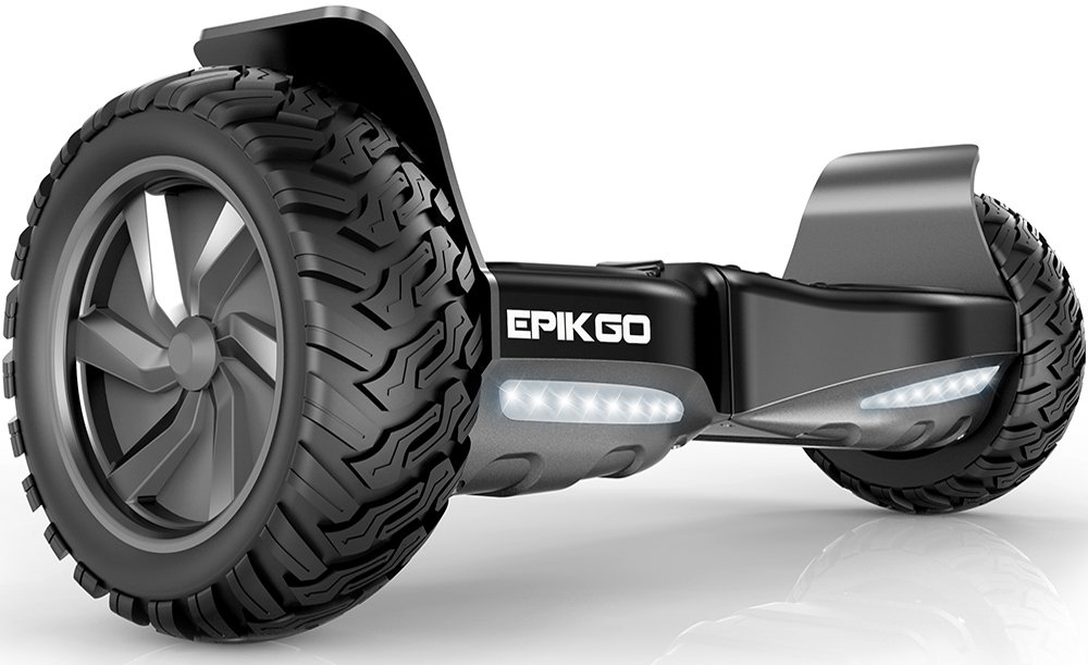 "EPIKGO Self Balancing Scooter Hover Self-Balance Board - UL2272 Certified, All-Terrain 8.5"" Alloy Wheel, 400W Dual-Motor, LG Battery, Board Hover Tough Road Condition [Classic Series, Space Grey] by EPIKGO"